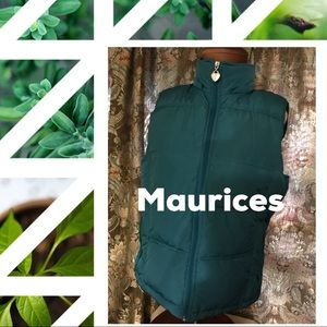 Maurices green quilted vest